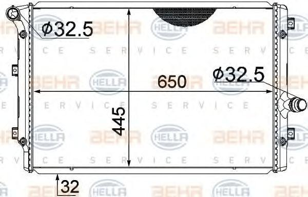 OE Original Kühler Motorkühlung 8MK 376 774-044 HELLA