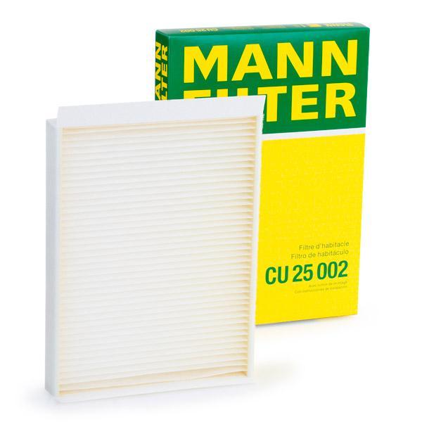 Filtrs, Salona telpas gaiss MANN-FILTER CU 25 002 Pārskatiem