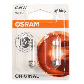 C5W OSRAM ORIGINAL C5W, 12V, 5W Glödlampa, skyltbelysning 6418-02B köp lågt pris
