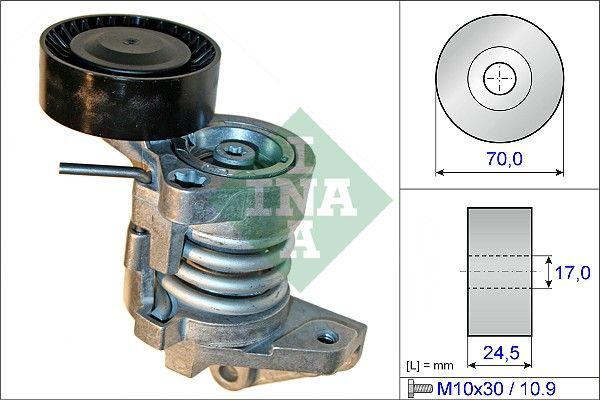INA: Original Riemenspanner Keilrippenriemen 534 0450 10 (Ø: 70,00mm, Breite: 24,50mm)