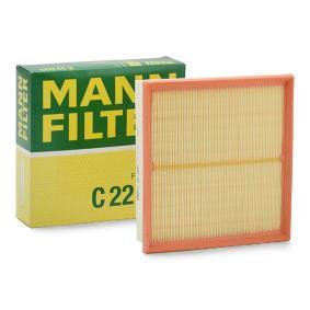 C 22 020 MANN-FILTER Länge: 220mm, Breite: 236mm, Höhe: 58mm Luftfilter C 22 020 günstig kaufen