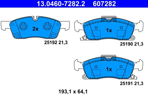 13.0460-7282.2 Bremssteine ATE in Original Qualität