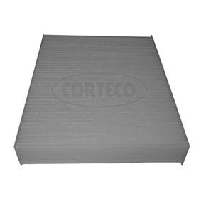 80004353 CORTECO Partikelfilter Breite: 200mm, Höhe: 41mm, Länge: 248mm Filter, Innenraumluft 80004353 günstig kaufen