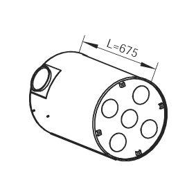 Mittelschalldämpfer DINEX 80401 mit 16% Rabatt kaufen