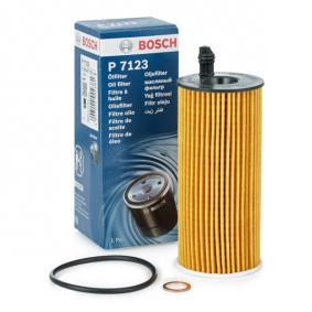 P7123 BOSCH Filtereinsatz Ø: 53mm, Höhe: 133,6mm, Höhe 1: 116mm Ölfilter F 026 407 123 günstig kaufen