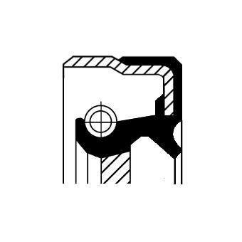 MERCEDES-BENZ C-Klasse 2017 Wellendichtring, Schaltgetriebe - Original CORTECO 01034075B