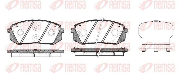 BPM130222 REMSA Vorderachse, mit akustischer Verschleißwarnung, mit Klebefolie, mit Zubehör Höhe: 61mm, Dicke/Stärke: 17,6mm Bremsbelagsatz, Scheibenbremse 1302.22 günstig kaufen
