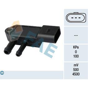 16112 FAE Número de polos: 3polos Sensor, presión gas de escape 16112 a buen precio