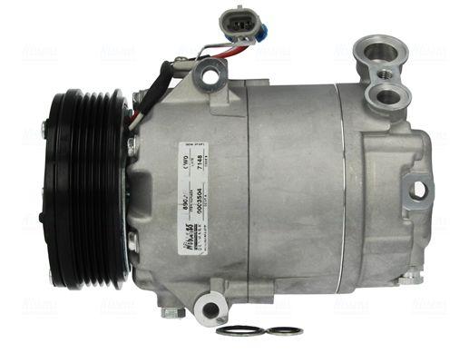 Klimakompressor Opel Zafira f75 2000 - NISSENS 89024 (Riemenscheiben-Ø: 105mm, Anzahl der Rillen: 5)