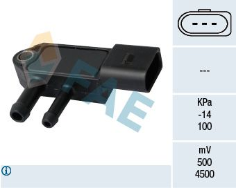 16109 FAE Number of Poles: 3-pin connector Sensor, exhaust pressure 16109 cheap