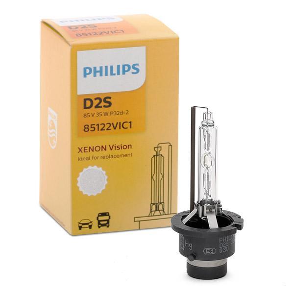 D2S PHILIPS Xenon Vision D2S (Gasurladdningslampa) 85V 35W P32d-2 4600K Xenon Glödlampa, fjärrstrålkastare 85122VIC1 köp lågt pris