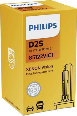 85122VIC1 Крушка с нагреваема жичка, фар за дълги светлини PHILIPS - на по-ниски цени
