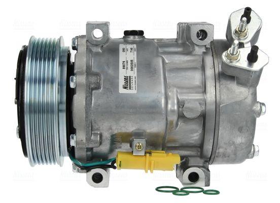 NISSENS: Original Klimakompressor 89076 (Riemenscheiben-Ø: 119mm, Anzahl der Rillen: 6)