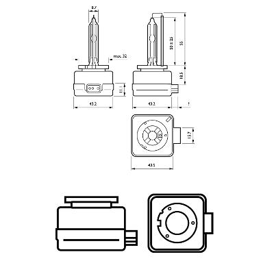 85415VIC1 Крушка с нагреваема жичка, фар за дълги светлини PHILIPS 36473633 - Голям избор — голямо намалание