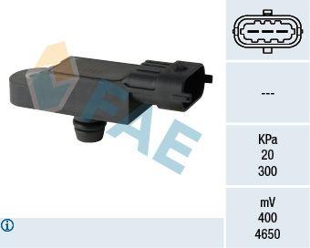 NISSAN JUKE 2014 Sensor, Saugrohrdruck - Original FAE 15068 Pol-Anzahl: 3-polig