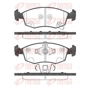 D15688777 REMSA Vorderachse, mit akustischer Verschleißwarnung, mit Klebefolie, mit Zubehör, mit Feder Höhe: 52,5mm, Dicke/Stärke: 17mm Bremsbelagsatz, Scheibenbremse 0172.72 günstig kaufen