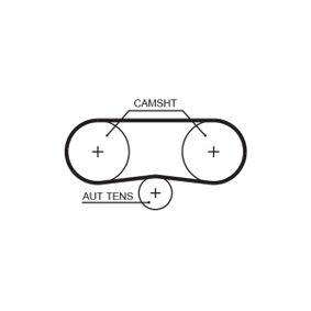 KP25565XS-1 Wasserpumpe + Zahnriemensatz GATES - Markenprodukte billig