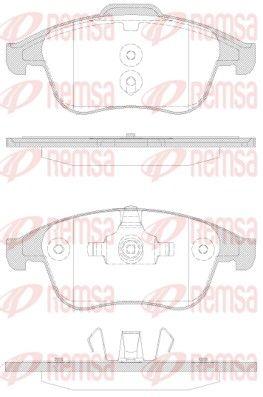 24710 REMSA Vorderachse, mit Klebefolie, mit Feder, mit Zubehör Höhe 2: 63,2mm, Höhe: 68,5mm, Dicke/Stärke: 18mm Bremsbelagsatz, Scheibenbremse 1350.30 günstig kaufen