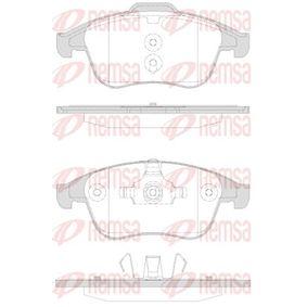 24710 REMSA Vorderachse, mit Klebefolie, mit Zubehör, mit Feder Höhe 2: 63,2mm, Höhe: 68,5mm, Dicke/Stärke: 18mm Bremsbelagsatz, Scheibenbremse 1350.30 günstig kaufen