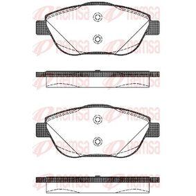 D19339156 REMSA Vorderachse, mit Klebefolie, mit Schrauben, mit Zubehör Höhe: 59,2mm, Dicke/Stärke: 18mm Bremsbelagsatz, Scheibenbremse 1392.10 günstig kaufen