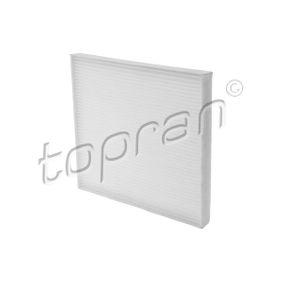 207 624 TOPRAN Pollenfilter, Filtereinsatz Breite: 216mm, Höhe: 20mm, Länge: 267mm Filter, Innenraumluft 207 624 günstig kaufen