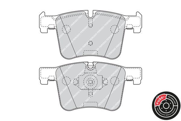 FDB4394 Bremsbelagsatz, Scheibenbremse FERODO Test