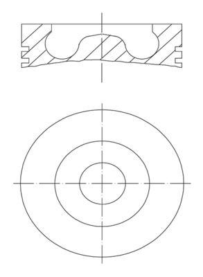 MAHLE ORIGINAL: Original Motor Kolben 016 07 00 ()