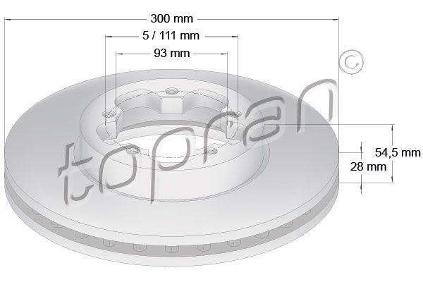 TOPRAN Спирачен диск 303 975