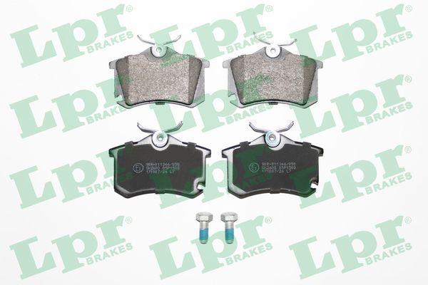 05P1508 LPR mit Schrauben Höhe: 53mm, Breite: 87,2mm, Dicke/Stärke: 17mm Bremsbelagsatz, Scheibenbremse 05P1508 günstig kaufen