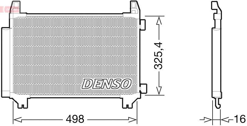 OE Original Kondensator Klimaanlage DCN50028 DENSO
