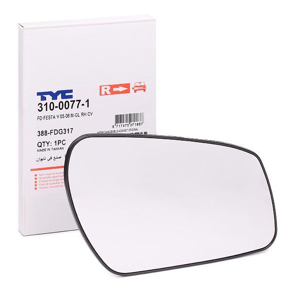 Spegelglas yttre spegel 310-0077-1 som är helt TYC otroligt kostnadseffektivt