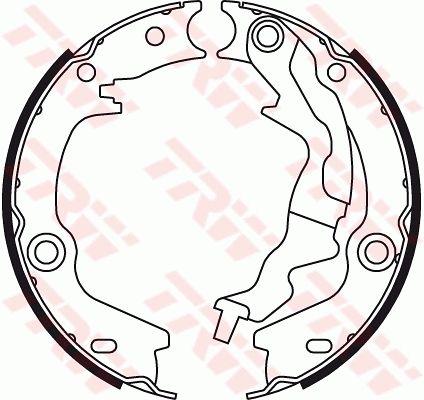 TRW Bremsbackensatz, Feststellbremse GS8781