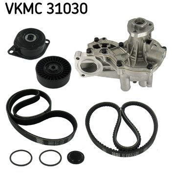 SKF Wasserpumpe + Keilrippenriemensatz VKMC 31030