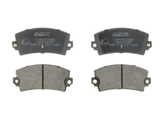 Achetez Jeu de plaquettes de frein ABE C2R003ABE (Hauteur: 49,6mm, Largeur: 108,8mm, Épaisseur: 14mm) à un rapport qualité-prix exceptionnel