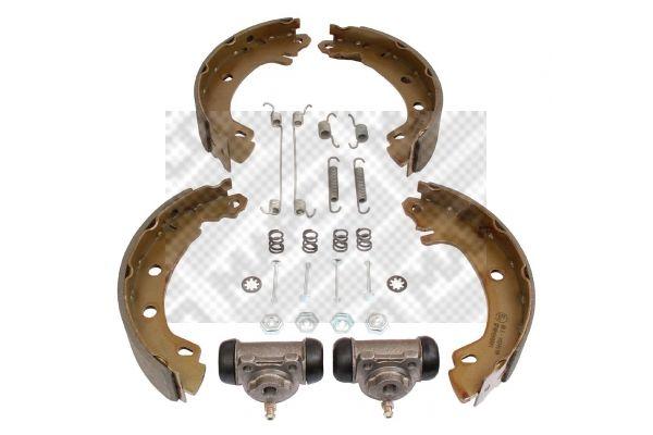 9752 MAPCO Hinterachse, mit Radbremszylinder, mit Zubehör Bremsensatz, Trommelbremse 9752 günstig kaufen