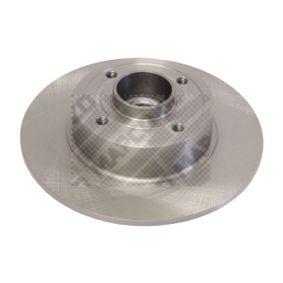 15141 MAPCO Hinterachse, Voll, mit ABS-Sensorring, mit Radlager Ø: 240mm, Lochanzahl: 4, Bremsscheibendicke: 8mm Bremsscheibe 15141 günstig kaufen