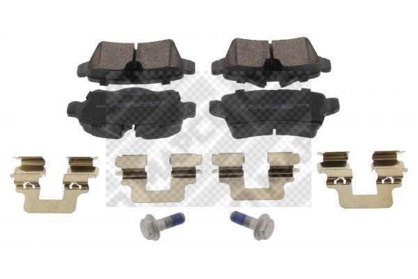 6885 MAPCO Hinterachse, für Verschleißwarnanzeiger vorbereitet, mit Anti-Quietsch-Blech, mit Bremssattelschrauben, mit Zubehör Höhe: 48mm, Breite: 95,5mm, Dicke/Stärke: 16,5mm Bremsbelagsatz, Scheibenbremse 6885 günstig kaufen