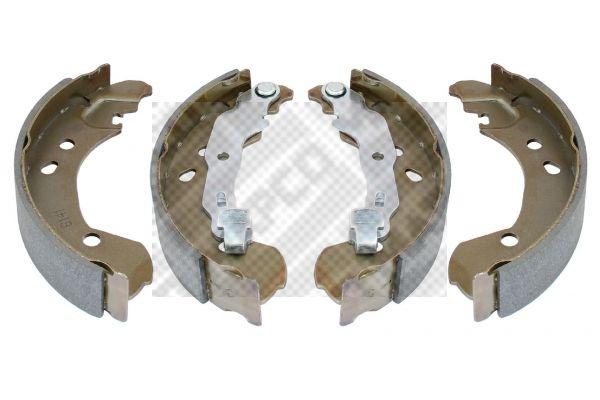 8141 MAPCO Hinterachse Breite: 38mm Bremsbackensatz 8141 günstig kaufen