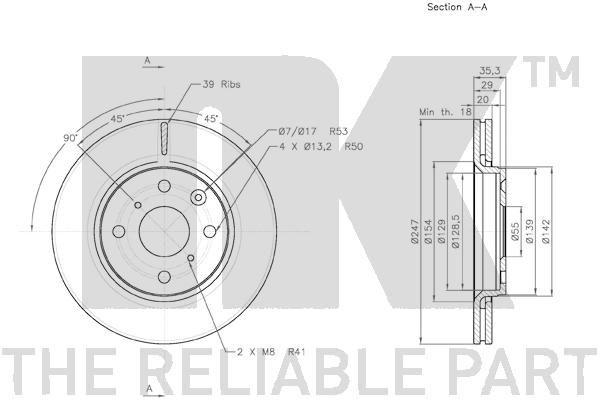 3145102 Bremsscheiben NK 3145102 - Große Auswahl - stark reduziert