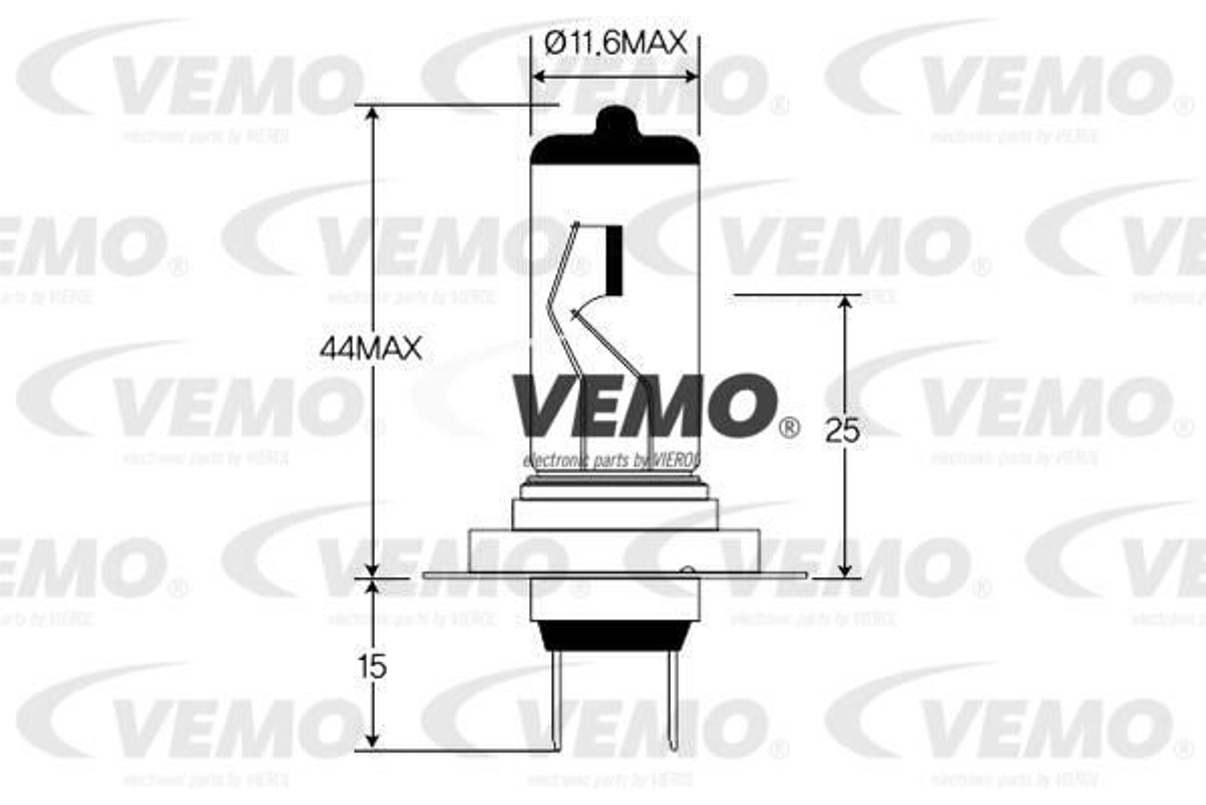 V99-84-0002 Glühlampe, Fernscheinwerfer VEMO Test