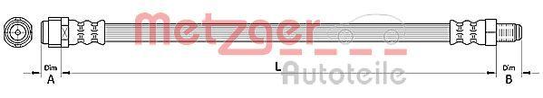 Bremsschläuche METZGER 4110726