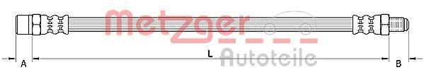 Bremsschlauch METZGER 4110950