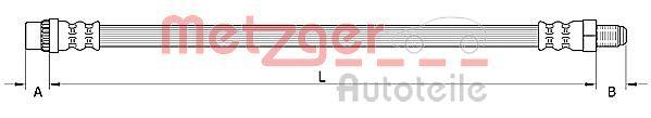 Bremsschlauch METZGER 4110895