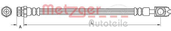 Bremsschlauch METZGER 4110891