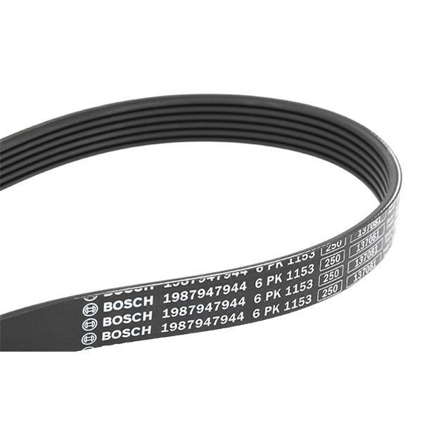 Achetez Courroies, chaînes, galets BOSCH 1 987 947 944 (Nombre de gorges: 6, Longueur: 1153mm) à un rapport qualité-prix exceptionnel
