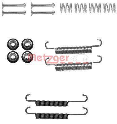 METZGER: Original Zubehörsatz Bremsbacken 105-0893 ()