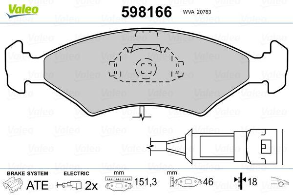 Bremsbeläge VALEO 598166