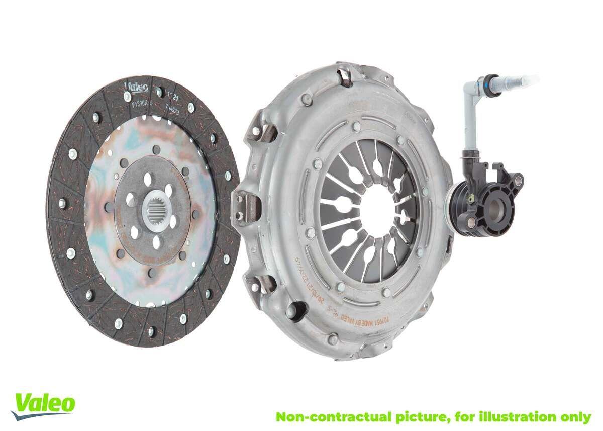 Купете 834060 VALEO KIT3P (CSC) с притискателен диск, с централен изключвател, с диск за съединителя Комплект съединител 834060 евтино