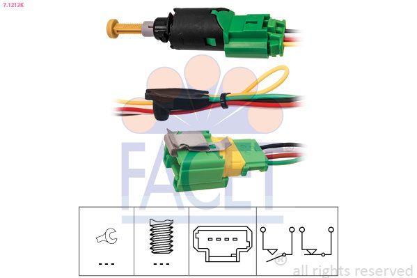 KW510213K FACET Made in Italy - OE Equivalent Bremslichtschalter 7.1213K günstig kaufen
