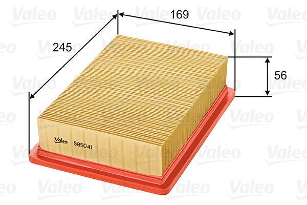 Alfa Romeo 155 1995 Air filter VALEO 585041: Filter Insert